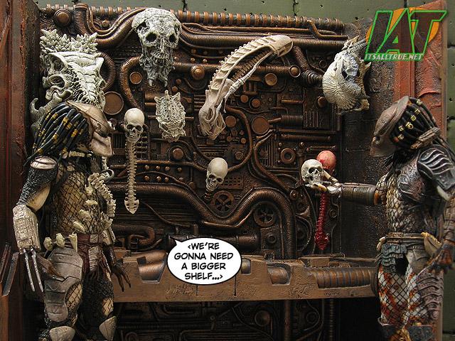 NECA Predator 2 Trophy Wall & Skull Pack Review (20 pics